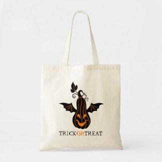 Pumpkin & Bat Creative Illustration Budget Tote Bag