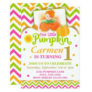 Pumpkin Birthday Invitation