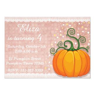 Pumpkin birthday Invitation, Fall Invitation