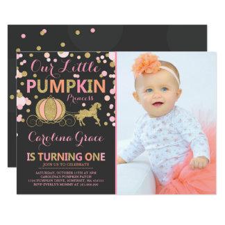 Pumpkin Birthday Invitation Pumpkin Princess Party
