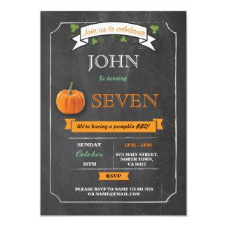 Pumpkin Birthday Party 5th 6th 7th 8th 9th Invite