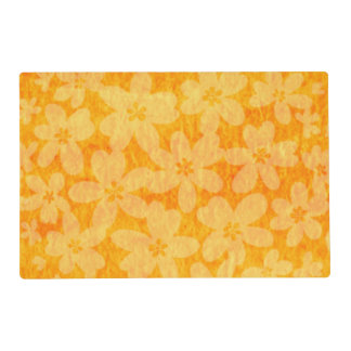 """Pumpkin Blossom"" Laminated Table Placemat Laminated Placemat"