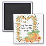 Pumpkin Border - Fall My Favourite Magnet