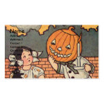 Pumpkin Boy (Vintage Halloween Card) Double-Sided Standard Business Cards (Pack Of 100)