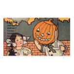 Pumpkin Boy (Vintage Halloween Card) Pack Of Standard Business Cards