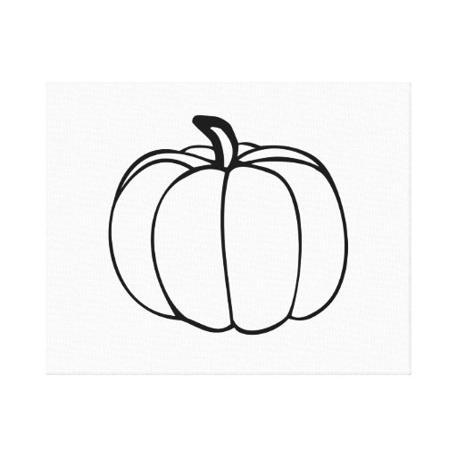 Pumpkin Gallery Wrapped Canvas