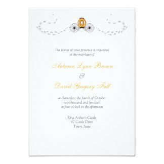 Pumpkin Carriage Fall Wedding Invitations
