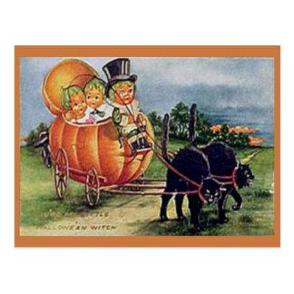 Pumpkin Carriage Postcard