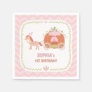 Pumpkin Carriage Princess Birthday Party Supplies Disposable Napkin