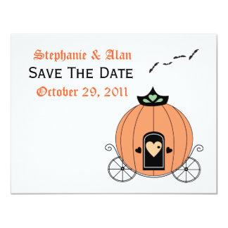 Pumpkin Carriage Save The Date Card Custom Invitations