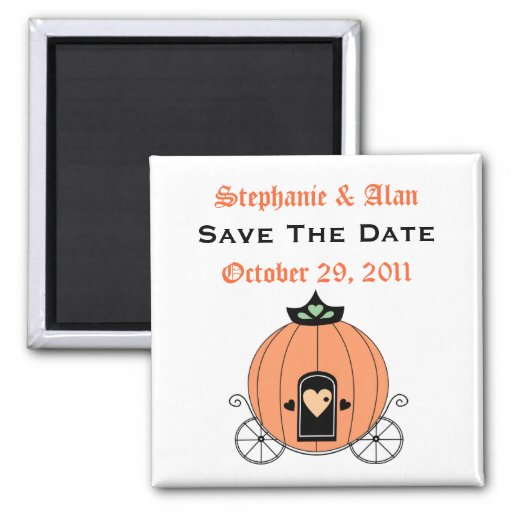 Pumpkin Carriage Save The Date Magnet