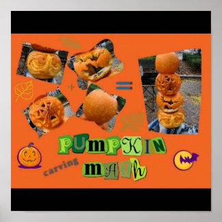 """""""Pumpkin Carving Math"""" Poster"""