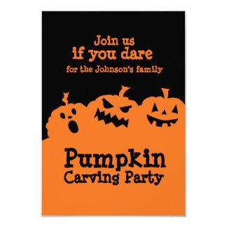 Pumpkin carving party invitation
