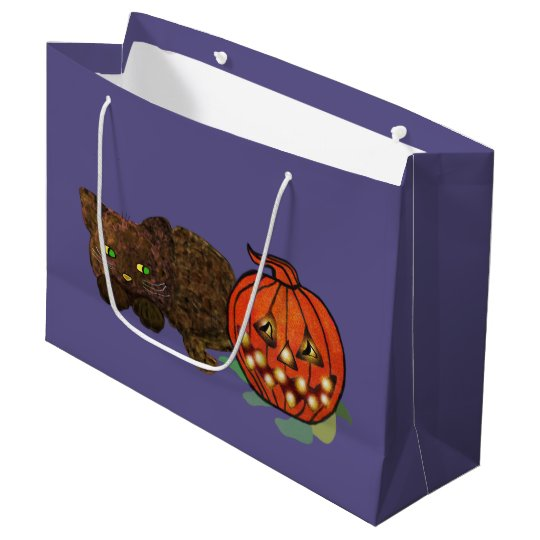Pumpkin Cat Large Gift Bag