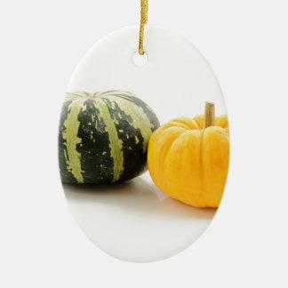 Pumpkin Ceramic Oval Decoration