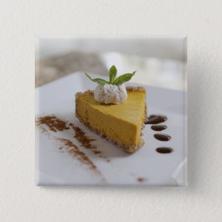 Pumpkin Cheesecake 15 Cm Square Badge
