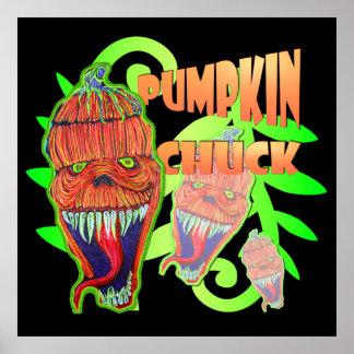 Pumpkin Chuck Design Poster