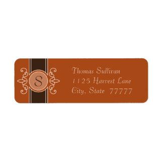 Pumpkin Classic Harvest Return Address Labels