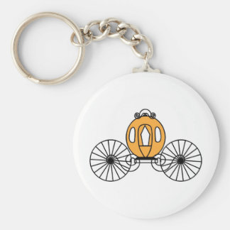 Pumpkin Colored Coach Key Ring