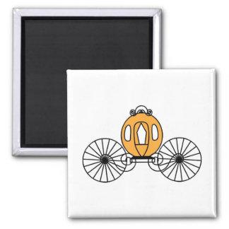 Pumpkin Colored Coach Fridge Magnets