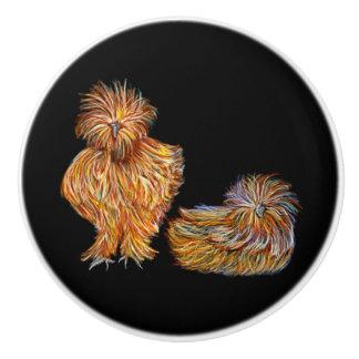 Pumpkin Colored Fancy Chicken Knobs