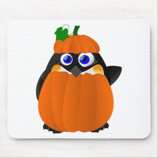 Pumpkin Costume Halloween Penguin Mouse Mat