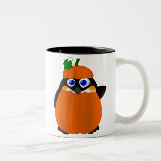Pumpkin Costume Halloween Penguin Mug