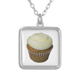 Pumpkin Cupcake Square Pendant Necklace