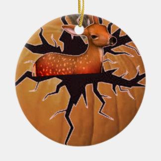 Pumpkin Deer Christmas Ornament
