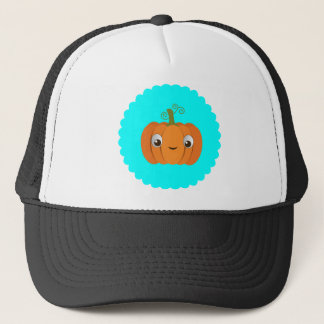 Pumpkin design trucker hat