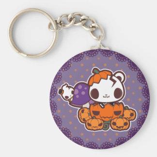 Pumpkin Disguise Basic Round Button Key Ring