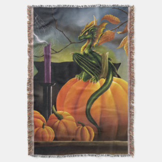 Pumpkin Dragon Throw Blanket