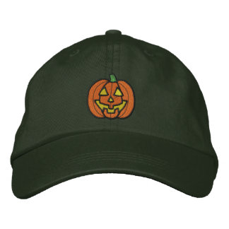 Pumpkin Embroidered Hat