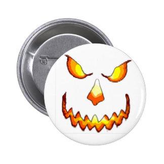 Pumpkin Face 6 Cm Round Badge