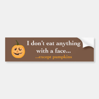 Pumpkin Face - Bumper Sticker