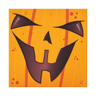 Pumpkin Face Gallery Wrapped Canvas