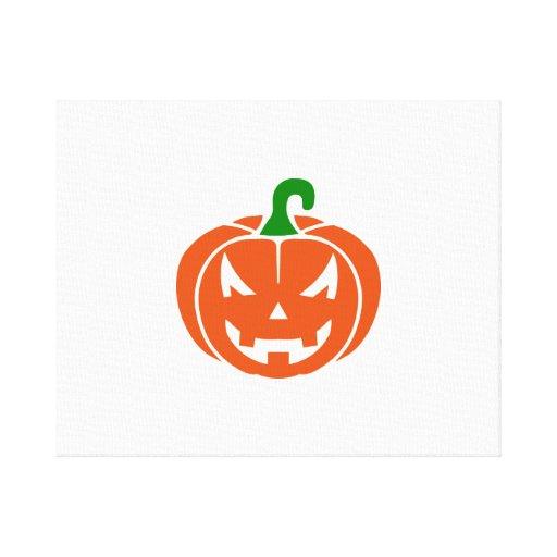 Pumpkin face gallery wrap canvas
