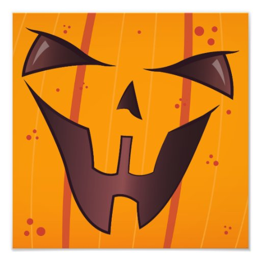 Pumpkin Face Photo Print