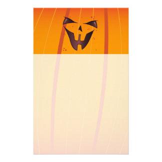 Pumpkin Face Customized Stationery