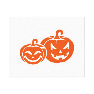 Pumpkin faces canvas print