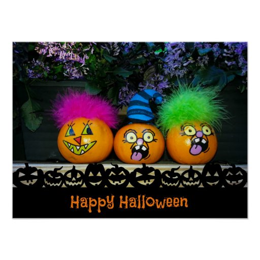 Pumpkin Faces Poster