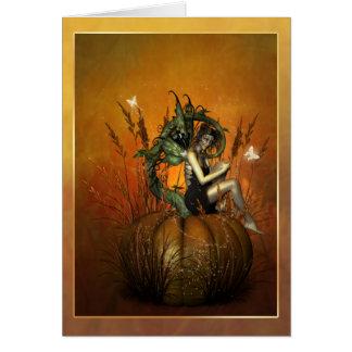 Pumpkin fae card