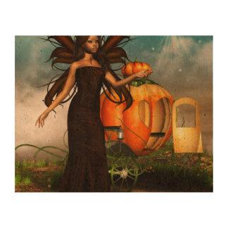 Pumpkin Fae Cork Paper Print