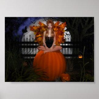 Pumpkin Fae Poster