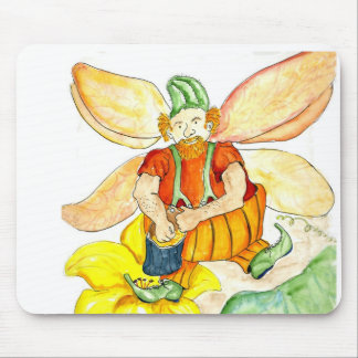 Pumpkin Fairy - Watercolor Pencil Mouse Pad