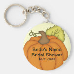 Pumpkin Fall Bridal Shower Favour Keychain