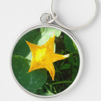 PUMPKIN FLOWER KEY RING