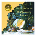 PUMPKIN ,FRUITS AND GLASSWARE Thanksgiving Dinner Personalised Invitation