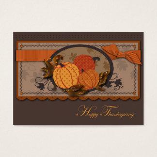 Pumpkin Garden Gift Tag Business Card