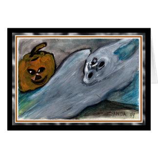 Pumpkin & Ghost Halloween Card
